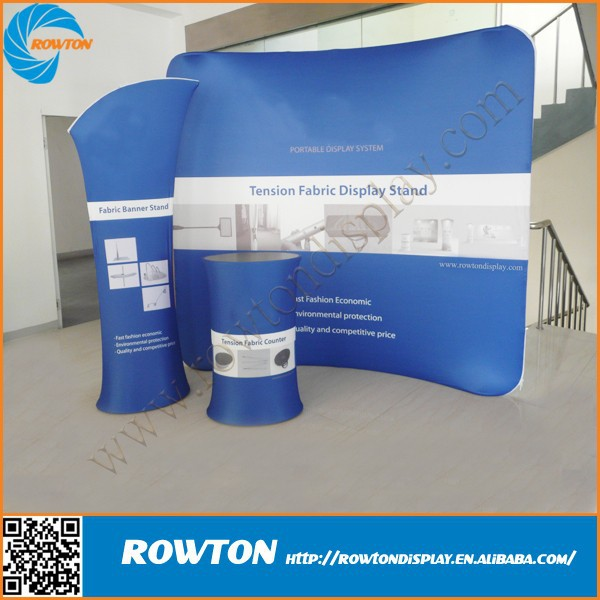 Trade Stands Cheap : Curved exhibition stands aluminum frame