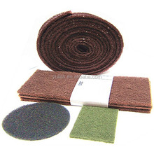 scotch brite pad/nylon fiber abrasive scouring/polishing pad