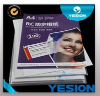 Yesion 2015 Hot Sales ! Premium Factory Sell A3 A4 High-definition RC Inkjet Woven/ Glossy Photo Paper