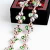 new arrival rhinestone bridal trimmings chain, mix color flower shape rhinestone chains for shoes boots decoration