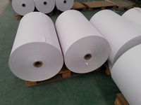Self adhesive cast coated paper with water based glue