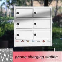 sopower phone charging station 6 docks rohs solar cell phone charger