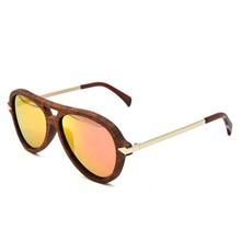 wood bridge metal hinge fashion wooden sunglasses