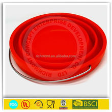 silicone collapsible bucket,collapsible silicone bucket,silicone water folding bucket collapsible bucket