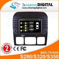 BNZ-7518GD Autoradio for S280/S320/S350/S400/S430/S500 with GPS/DVD/3G/MP5