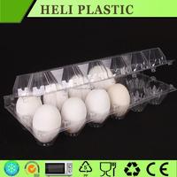 Transparent egg tray plastic 2x6 egg packs
