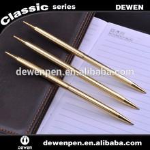 shiny golden metal stainless steel ballpoint pen.
