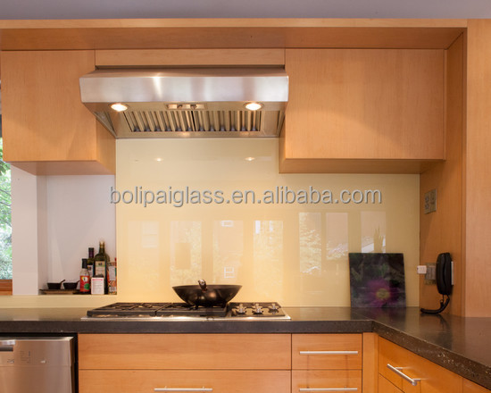 Kitchen fitted with opticolour blackcurrent glass - Glass wall panels kitchen ...