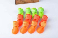 orange Brand new Lovely Portable Pet Dog Waterproof Boots Rain Shoes