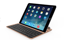 Gold Double Slot Aluminium Bluetooth Wireless Keyboard for iPad Air Tablet PC