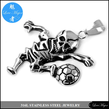football lover forever slitaire casting stainless steel pendant of fashion jewelry