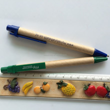 recycled paper ballpoint pen with customized logo printing