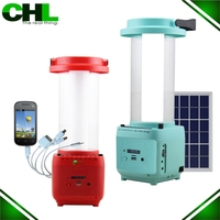 2015 Multi-functional portable solar mobile phone charger with led lamp and fm radio