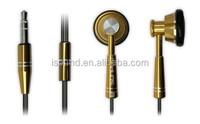 China Wholesale Metal earphone with mic,In- Ear earphones headphones
