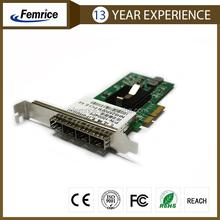 1000Mbps 4 Ports Fiber Optical Lan Card, PCI Express x4 Bus Type, SFP Slot Network Adapter