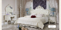 Classic White Wood Luxury Carving Antique Bedroom Furniture