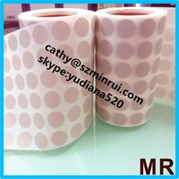 Round gray dot sticker/self adheisve vinyl dot sticker labels in roll form with high quality