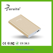2015 New Power bank 10000mah portable mobile chargeing luxury gold color