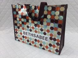 laminated non woven handbag/shoppingbag full print dot
