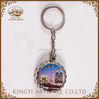 factory supply new design metal round shape key chain ring