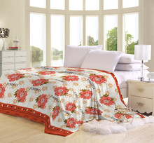 2015 New flower printed flanne fleece blanket
