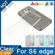 For Samsung Galaxy S6 edge ultra thin case clear TPU case for Samsung S6 edge