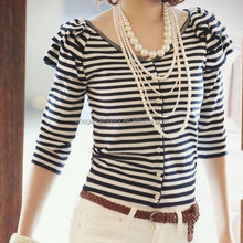 5 layers Faux Pearl long Necklace