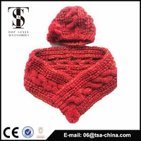Free Knitting Pattern Scarf Hat Attached : Winter Knitted Hat Scarf Attached, Winter Knitted Hat Scarf Attached Supplier...