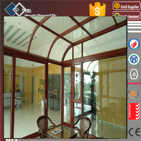 Europe fashion model high energy-efficient aluminum glass sunroom panels for sale