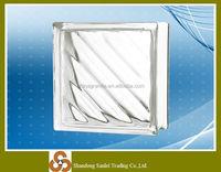 Natural home decoration rectangular brick glass block size