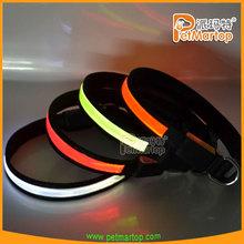 creative 2015 flashing pvc leather dog collar TZ-PET1038 led dog collar and leash wholesales