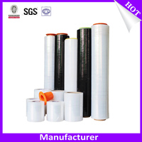 Plastic Custom Printed Popsicle Wrappers , Transparent Stretch Film