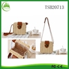 2015 New Women's Fashion Woven Rattan Shoulder Bags Straw Bag Beach Clutch Bag