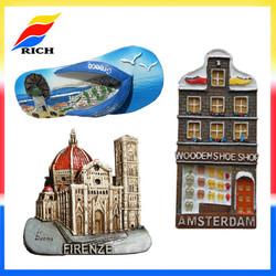 3d resin souvenir fridge magnets