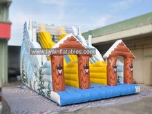offer inflatable big slide with winter snow theme