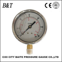 63mm -0-60psi/0-4bar bourdon tube glycerin filled pressure gauge