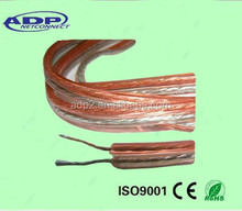 12/14/16AWG 100m/roll PVC insulation 2core copper transparent speaker cable