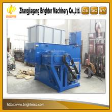 Industrial heavy duty control automático PLC Skd11 sola un eje de plástico lump trituradora planta