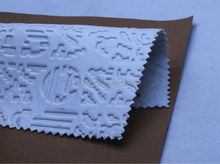 new design pu coated emboss synthetic leather