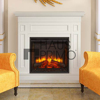 Hongjin White Painted Classic Home Decoration Fireplace Mantels