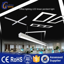 super long office light led suspended light fitting for commercial project