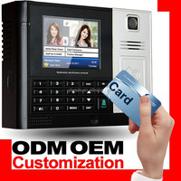 Electronic Time Attendance Machine with HD color camera