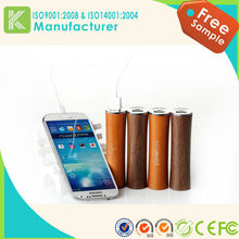 New products low-carbon environment nature 2600mah wood power bank for cellphone
