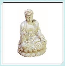 Antique white polystone buddha beautifully carved