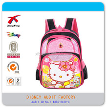 2015 XF Hot Sale Fashion Funny Kids Cute Hello Kitty School Backpack Bag
