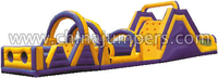 gaint slide type inflatable obstacle slide for party/events/fun sports