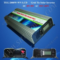 2015 New Coming DC 45-90v to AC 220v 230v 240v 2000w Solar Grid-Tie Inverter