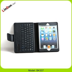Magnetic keyboard leather case for ipad mini for tablet, Magnetic case with keyboard for ipad mini