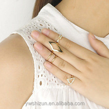 2015 fashion jewelry Midi Above Knuckle Ring Band Gold Silver Tip Finger Stacking 10k gold filled midi ring set