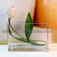 chinese square glass vase
